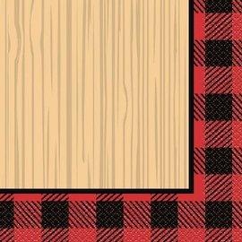 Lunch Napkins- Plaid Lumber Jack- 16pk/2ply