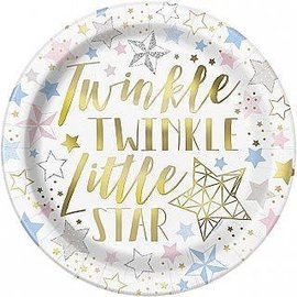 Luncheon Paper Plates-Twinkle Twinkle Little Star