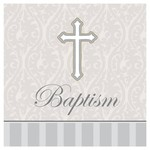 Beverage Napkins- Baptism Devotion - 16 pk-3ply
