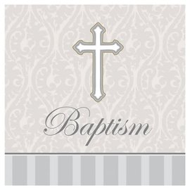 Beverage Napkins- Baptism Devotion - 16 pk-3ply