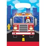 Loot Bags- Flaming Fire Truck- 8pk