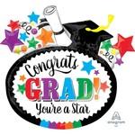 "Foil Balloon - Congrats Grad 29"" x 27"""