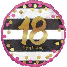 "Foil Balloon - 18th Birthday - 18"""