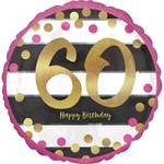 "Foil Balloon- 60th Birthday- 18"""