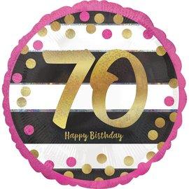 "Foil Balloon- 70th Birthday- 18"""