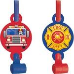 Blowouts- Flaming Fire Truck- 8pk