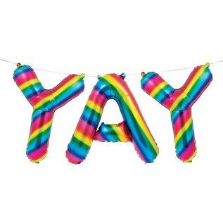 Foil Balloon - YAY - Rainbow Foil