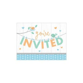 Invites - Hello Baby Boy- 8pk