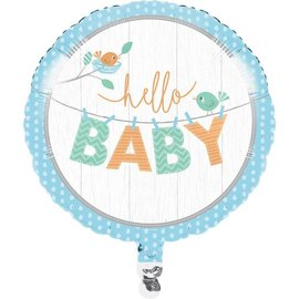 Foil Balloon - Hello Baby Boy 18""