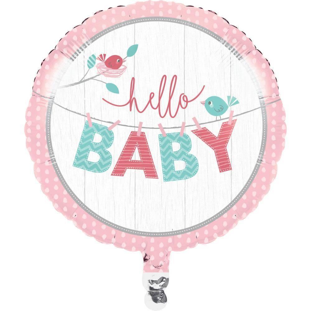 25f74e6d9 Foil Balloon - Hello Baby Girl