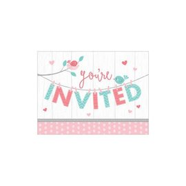 Invites - Hello Baby Girl- 8pk