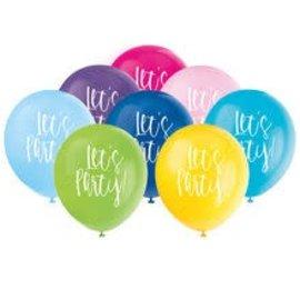 "Balloons-Latex-It's Party-12""(8PK)"