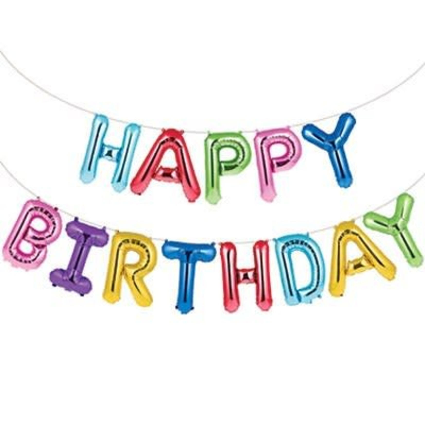 Balloon Banner Happy Birthday