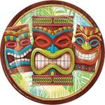 "Lunch Paper Plates- Tiki Time- 8pk/9"""
