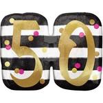 "Foil Balloon- 50th Birthday- 25"" x 20"""