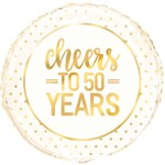 """Foil Balloon - Cheers To 50 Years - 18"""""""