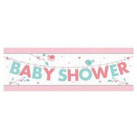 Banner Plastic - Hello Baby Girl