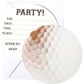 Invitations-Sport Fanatic- Golf-8pk