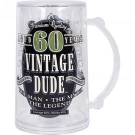 """Mug- Vintage Dude """"60""""- 14oz- Plastic"""