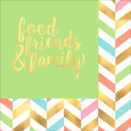 Lunch Napkins- Eat, Drink and Be Happy!- 16pk-Discountinued/Final Sale