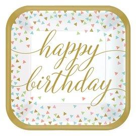 Plates - Happy Birthday