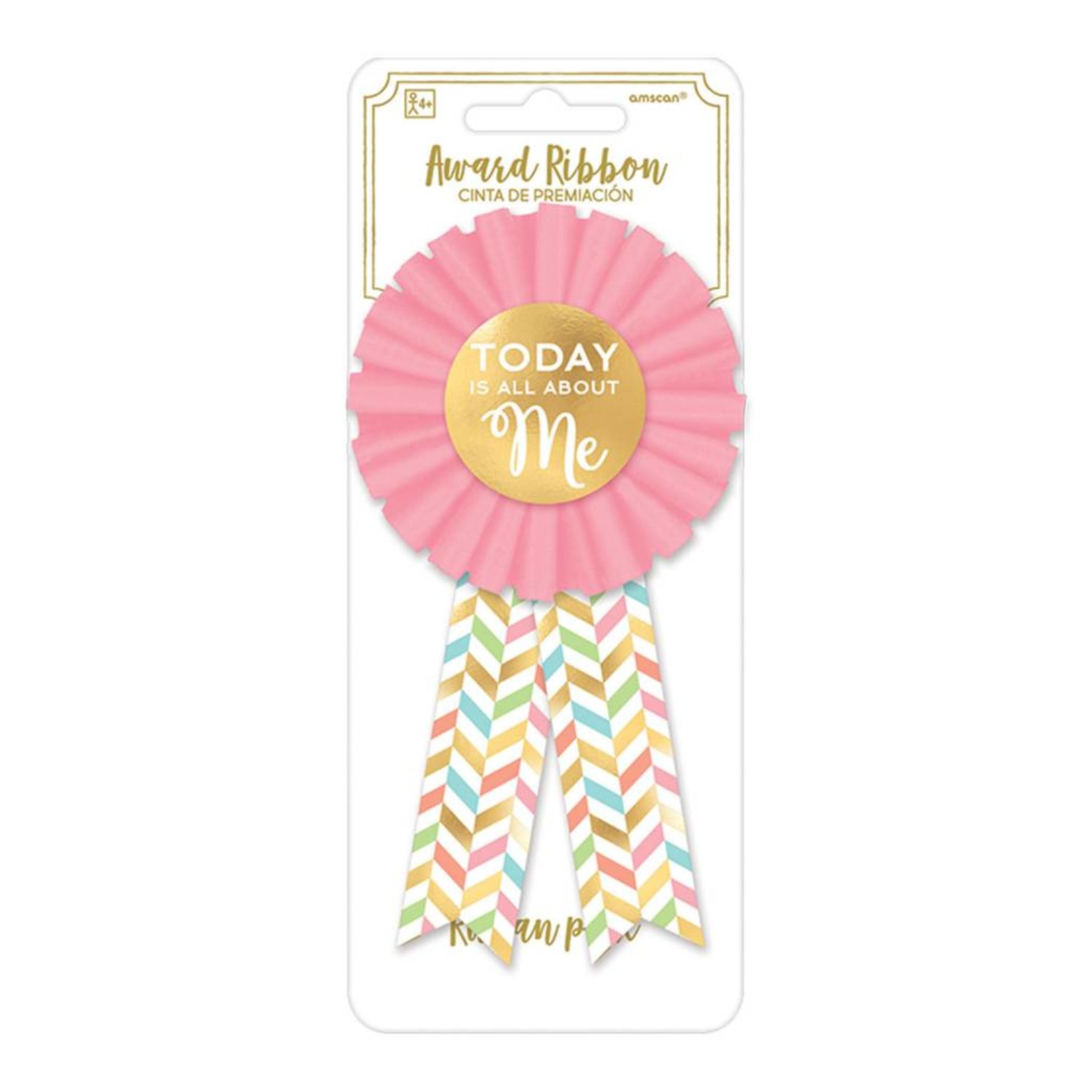 Award Ribbon- Confetti Fun- 1pc