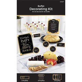 Buffet Decorating Kit- Gold Birthday