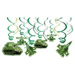 Hanging Swirl Decorations- Camouflage- 12pcs