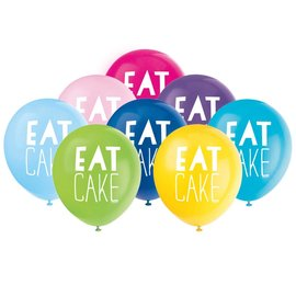 "Balloons-Latex-Eat Cake-12""(8PK)"