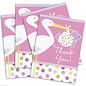 Baby Thank You Cards- Girl- 8pk