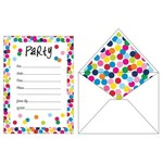 Invitations-Birthday Dots (10 ct)