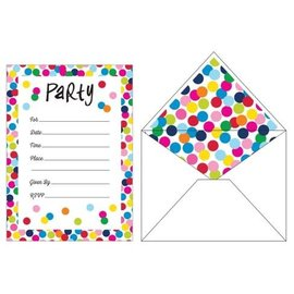 Invitations-Birthday Dots (10 ct)