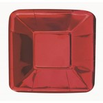 Appetizer Plates-Metallic Red