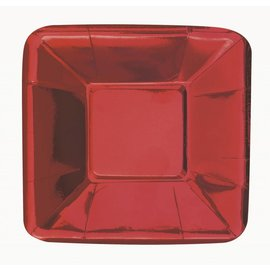 Appetizer Plates-Metallic Red