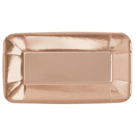 Appetizer Plates-Rose Gold
