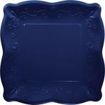 "Beverage Paper Plates-Embossed-Navy Blue-7"""