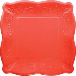 """Plates-Paper Embossed-10"""" Orange"""