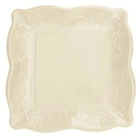 """Plates-Paper Embossed-10"""" Ivory"""