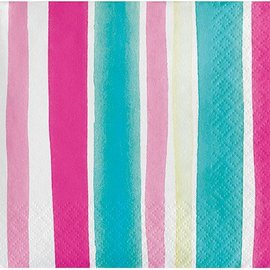 Beverage Napkins- Tropical-Stripes- 24pk-3ply
