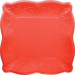 Beverage Paper Plates-Coral Red