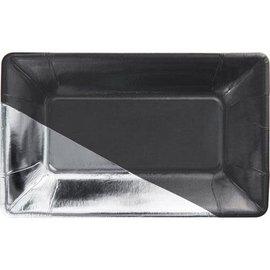 Appetizer Plates-Black & Silver