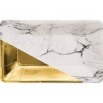 Appetizer Paper Plates-Marble and Gold