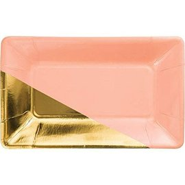 Appetizer Plates-Coral & Gold