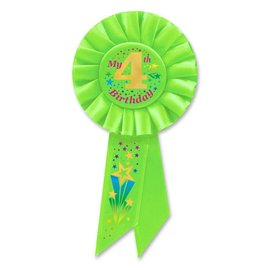 Award Ribbon- My 4th Birthday- Green