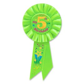 Award Ribbon- My 5th Birthday- Green