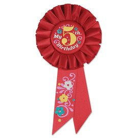 Award Ribbon- My 5th Birthday- Rosette