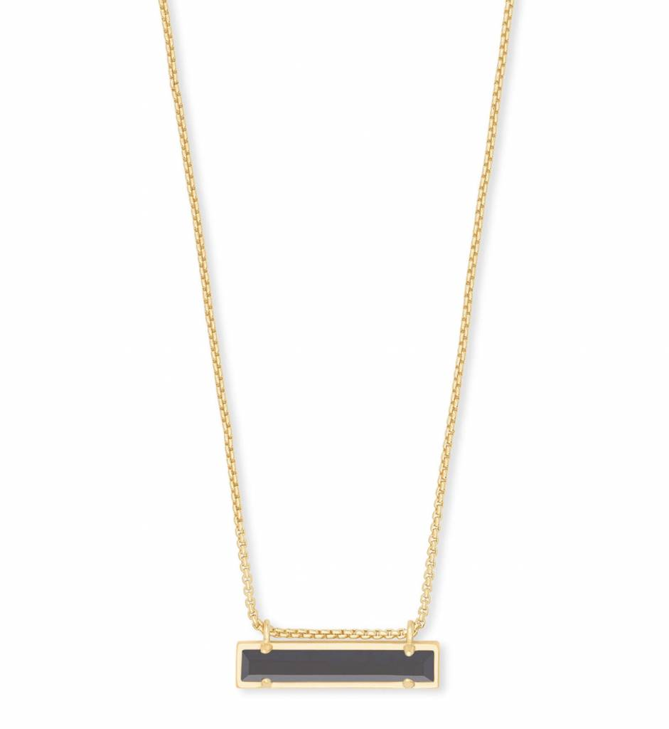 Kendra Scott Leanor Gold Necklace in Black