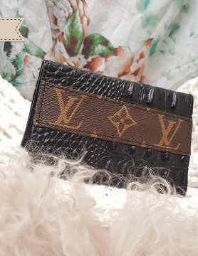 Repurposed Louis Vuitton Credit Card Holder