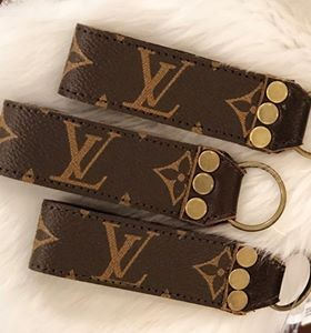 Repurposed Louis Vuitton Leather Key Chain
