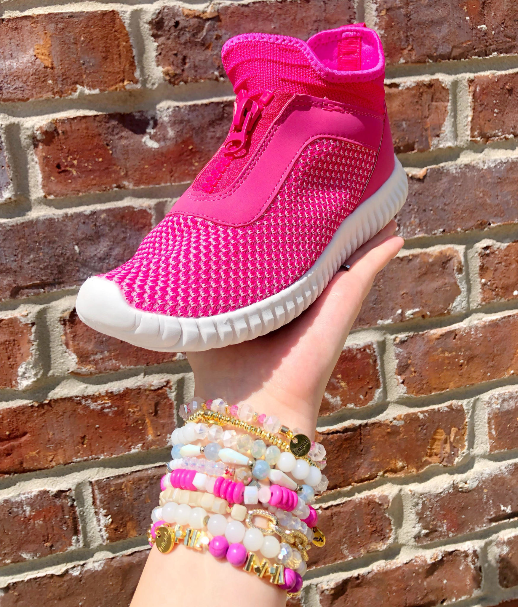 Helium Knit Pink Sneaker